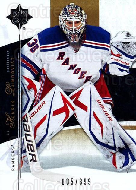 2009-10 UD Ultimate Collection #49 Henrik Lundqvist<br/>1 In Stock - $5.00 each - <a href=https://centericecollectibles.foxycart.com/cart?name=2009-10%20UD%20Ultimate%20Collection%20%2349%20Henrik%20Lundqvis...&quantity_max=1&price=$5.00&code=563304 class=foxycart> Buy it now! </a>
