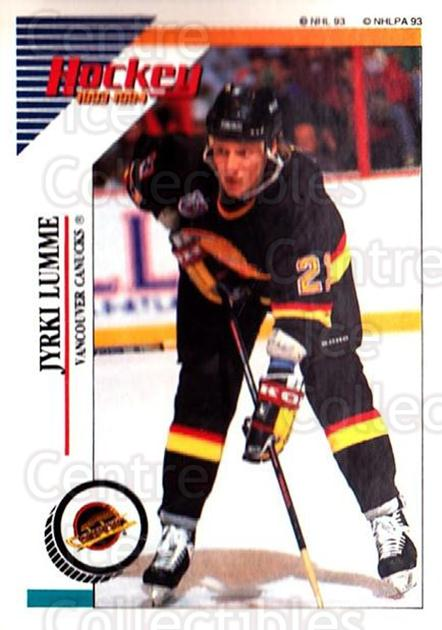 1993-94 Panini Stickers #175 Jyrki Lumme<br/>5 In Stock - $1.00 each - <a href=https://centericecollectibles.foxycart.com/cart?name=1993-94%20Panini%20Stickers%20%23175%20Jyrki%20Lumme...&quantity_max=5&price=$1.00&code=5644 class=foxycart> Buy it now! </a>
