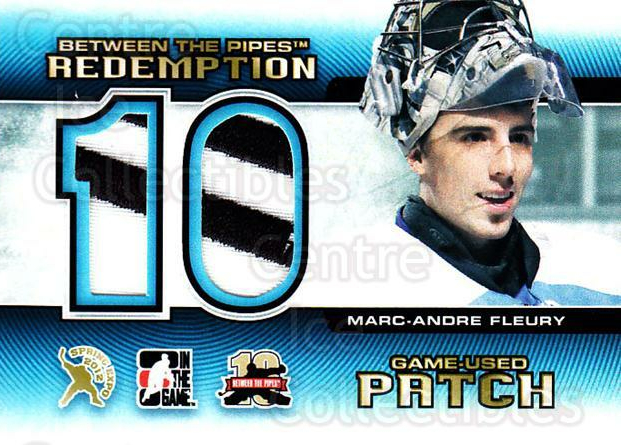 2012 Between The Pipes Spring Expo #64 Marc-Andre Fleury<br/>1 In Stock - $20.00 each - <a href=https://centericecollectibles.foxycart.com/cart?name=2012%20Between%20The%20Pipes%20Spring%20Expo%20%2364%20Marc-Andre%20Fleu...&quantity_max=1&price=$20.00&code=564785 class=foxycart> Buy it now! </a>