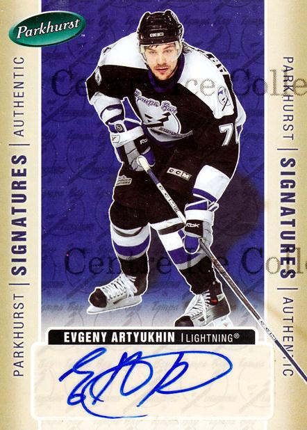 2005-06 Parkhurst Signatures #EA Evgeny Artyukhin<br/>1 In Stock - $5.00 each - <a href=https://centericecollectibles.foxycart.com/cart?name=2005-06%20Parkhurst%20Signatures%20%23EA%20Evgeny%20Artyukhi...&quantity_max=1&price=$5.00&code=565465 class=foxycart> Buy it now! </a>