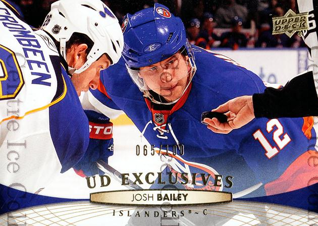 2011-12 Upper Deck UD Exclusives #85 Josh Bailey<br/>1 In Stock - $5.00 each - <a href=https://centericecollectibles.foxycart.com/cart?name=2011-12%20Upper%20Deck%20UD%20Exclusives%20%2385%20Josh%20Bailey...&quantity_max=1&price=$5.00&code=565612 class=foxycart> Buy it now! </a>