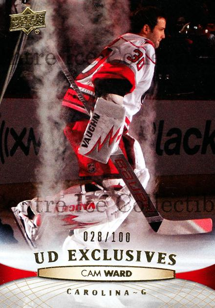 2011-12 Upper Deck UD Exclusives #170 Cam Ward<br/>1 In Stock - $5.00 each - <a href=https://centericecollectibles.foxycart.com/cart?name=2011-12%20Upper%20Deck%20UD%20Exclusives%20%23170%20Cam%20Ward...&price=$5.00&code=565697 class=foxycart> Buy it now! </a>