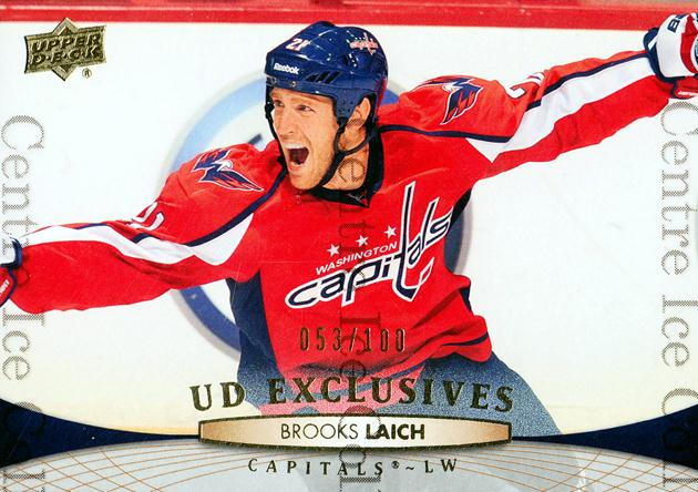 2011-12 Upper Deck UD Exclusives #262 Brooks Laich<br/>1 In Stock - $5.00 each - <a href=https://centericecollectibles.foxycart.com/cart?name=2011-12%20Upper%20Deck%20UD%20Exclusives%20%23262%20Brooks%20Laich...&quantity_max=1&price=$5.00&code=565789 class=foxycart> Buy it now! </a>