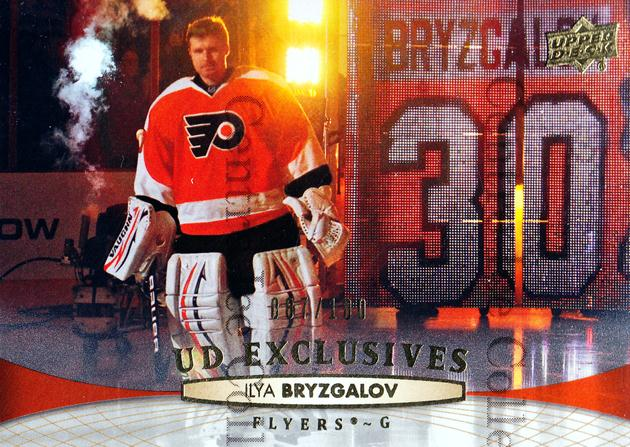 2011-12 Upper Deck UD Exclusives #321 Ilya Bryzgalov<br/>1 In Stock - $5.00 each - <a href=https://centericecollectibles.foxycart.com/cart?name=2011-12%20Upper%20Deck%20UD%20Exclusives%20%23321%20Ilya%20Bryzgalov...&quantity_max=1&price=$5.00&code=565848 class=foxycart> Buy it now! </a>
