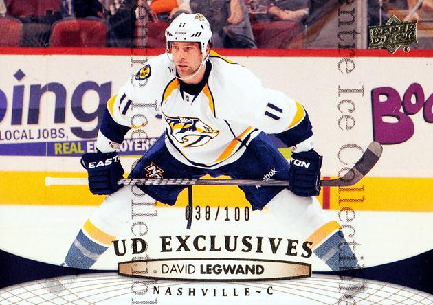 2011-12 Upper Deck UD Exclusives #354 David Legwand<br/>1 In Stock - $5.00 each - <a href=https://centericecollectibles.foxycart.com/cart?name=2011-12%20Upper%20Deck%20UD%20Exclusives%20%23354%20David%20Legwand...&quantity_max=1&price=$5.00&code=565881 class=foxycart> Buy it now! </a>