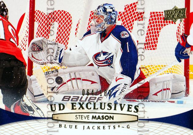 2011-12 Upper Deck UD Exclusives #401 Steve Mason<br/>1 In Stock - $5.00 each - <a href=https://centericecollectibles.foxycart.com/cart?name=2011-12%20Upper%20Deck%20UD%20Exclusives%20%23401%20Steve%20Mason...&quantity_max=1&price=$5.00&code=565928 class=foxycart> Buy it now! </a>