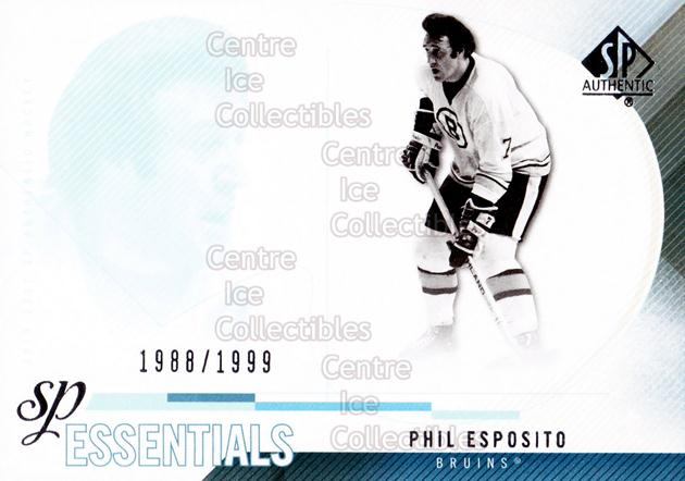 2010-11 Sp Authentic #162 Phil Esposito<br/>1 In Stock - $2.00 each - <a href=https://centericecollectibles.foxycart.com/cart?name=2010-11%20Sp%20Authentic%20%23162%20Phil%20Esposito...&quantity_max=1&price=$2.00&code=566039 class=foxycart> Buy it now! </a>
