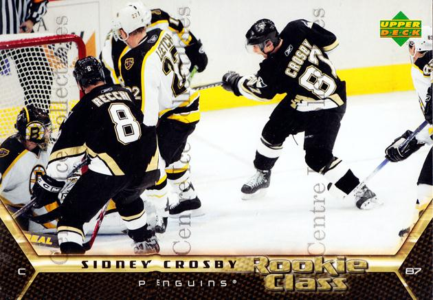 2005-06 Upper Deck Rookie Class Box Topper #1 Sidney Crosby<br/>2 In Stock - $10.00 each - <a href=https://centericecollectibles.foxycart.com/cart?name=2005-06%20Upper%20Deck%20Rookie%20Class%20Box%20Topper%20%231%20Sidney%20Crosby...&price=$10.00&code=566188 class=foxycart> Buy it now! </a>