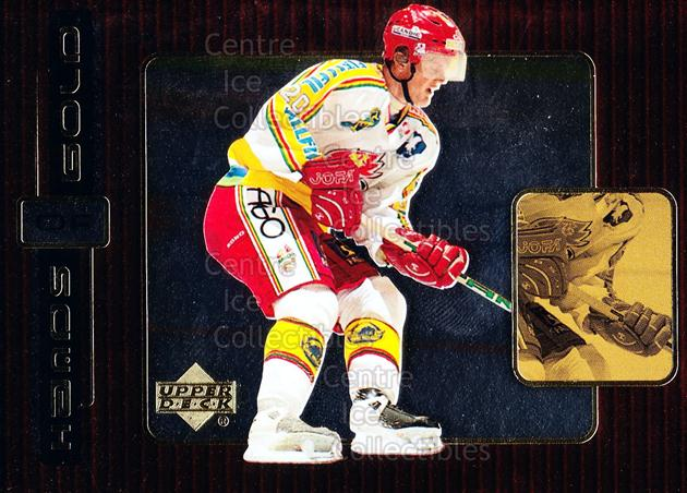 1999-00 Swedish Upper Deck Hands of Gold #13 Henrik Sedin<br/>2 In Stock - $3.00 each - <a href=https://centericecollectibles.foxycart.com/cart?name=1999-00%20Swedish%20Upper%20Deck%20Hands%20of%20Gold%20%2313%20Henrik%20Sedin...&quantity_max=2&price=$3.00&code=566304 class=foxycart> Buy it now! </a>