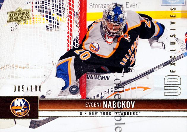 2012-13 Upper Deck UD Exclusives #114 Evgeni Nabokov<br/>1 In Stock - $5.00 each - <a href=https://centericecollectibles.foxycart.com/cart?name=2012-13%20Upper%20Deck%20UD%20Exclusives%20%23114%20Evgeni%20Nabokov...&quantity_max=1&price=$5.00&code=566683 class=foxycart> Buy it now! </a>