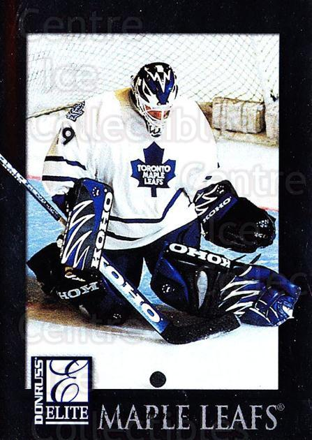1997-98 Donruss Elite #100 Felix Potvin<br/>1 In Stock - $1.00 each - <a href=https://centericecollectibles.foxycart.com/cart?name=1997-98%20Donruss%20Elite%20%23100%20Felix%20Potvin...&quantity_max=1&price=$1.00&code=56681 class=foxycart> Buy it now! </a>