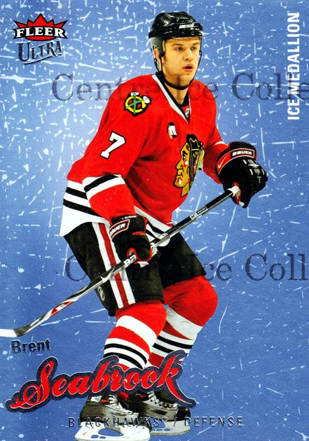 2008-09 Ultra Ice Medallion #120 Brent Seabrook<br/>1 In Stock - $5.00 each - <a href=https://centericecollectibles.foxycart.com/cart?name=2008-09%20Ultra%20Ice%20Medallion%20%23120%20Brent%20Seabrook...&quantity_max=1&price=$5.00&code=566938 class=foxycart> Buy it now! </a>
