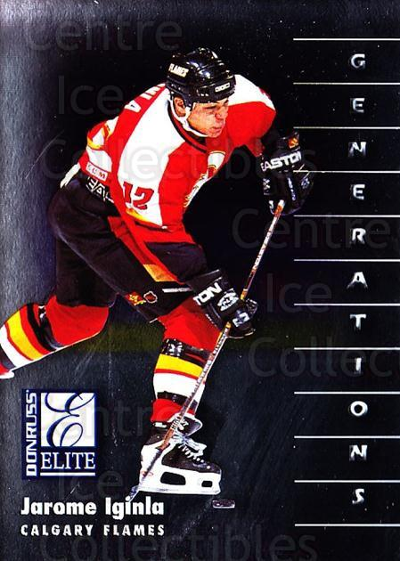 1997-98 Donruss Elite #121 Jarome Iginla<br/>5 In Stock - $1.00 each - <a href=https://centericecollectibles.foxycart.com/cart?name=1997-98%20Donruss%20Elite%20%23121%20Jarome%20Iginla...&quantity_max=5&price=$1.00&code=56704 class=foxycart> Buy it now! </a>