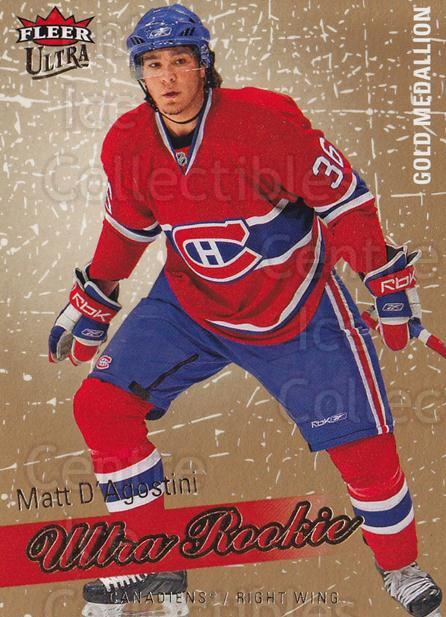 2008-09 Ultra Gold #223 Matt D'Agostini<br/>1 In Stock - $5.00 each - <a href=https://centericecollectibles.foxycart.com/cart?name=2008-09%20Ultra%20Gold%20%23223%20Matt%20D'Agostini...&quantity_max=1&price=$5.00&code=567113 class=foxycart> Buy it now! </a>
