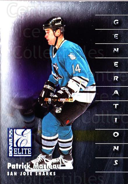 1997-98 Donruss Elite #128 Patrick Marleau<br/>5 In Stock - $1.00 each - <a href=https://centericecollectibles.foxycart.com/cart?name=1997-98%20Donruss%20Elite%20%23128%20Patrick%20Marleau...&quantity_max=5&price=$1.00&code=56711 class=foxycart> Buy it now! </a>