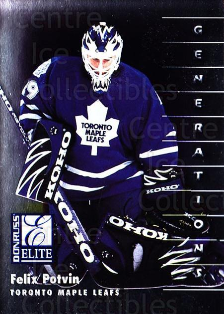 1997-98 Donruss Elite #131 Felix Potvin<br/>3 In Stock - $1.00 each - <a href=https://centericecollectibles.foxycart.com/cart?name=1997-98%20Donruss%20Elite%20%23131%20Felix%20Potvin...&quantity_max=3&price=$1.00&code=56715 class=foxycart> Buy it now! </a>