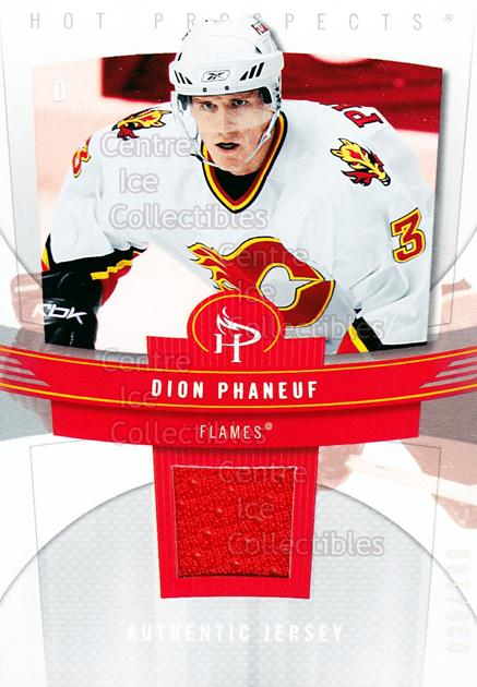 2006-07 Hot Prospects Red Hot #16 Dion Phaneuf<br/>1 In Stock - $5.00 each - <a href=https://centericecollectibles.foxycart.com/cart?name=2006-07%20Hot%20Prospects%20Red%20Hot%20%2316%20Dion%20Phaneuf...&price=$5.00&code=568211 class=foxycart> Buy it now! </a>
