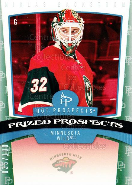 2006-07 Hot Prospects Red Hot #164 Niklas Backstrom<br/>1 In Stock - $5.00 each - <a href=https://centericecollectibles.foxycart.com/cart?name=2006-07%20Hot%20Prospects%20Red%20Hot%20%23164%20Niklas%20Backstro...&quantity_max=1&price=$5.00&code=568359 class=foxycart> Buy it now! </a>