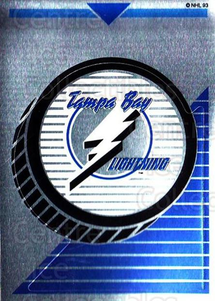 1993-94 Panini Stickers #211 Tampa Bay Lightning<br/>5 In Stock - $1.00 each - <a href=https://centericecollectibles.foxycart.com/cart?name=1993-94%20Panini%20Stickers%20%23211%20Tampa%20Bay%20Light...&quantity_max=5&price=$1.00&code=5684 class=foxycart> Buy it now! </a>