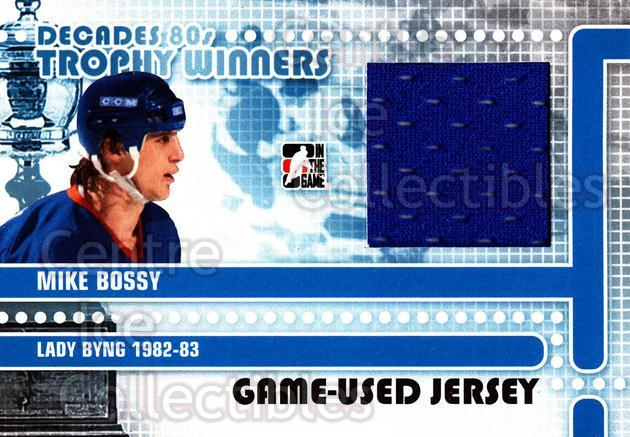 2010-11 ITG Decades 1980s Trophy Winners Jersey Black #8 Mike Bossy<br/>1 In Stock - $10.00 each - <a href=https://centericecollectibles.foxycart.com/cart?name=2010-11%20ITG%20Decades%201980s%20Trophy%20Winners%20Jersey%20Black%20%238%20Mike%20Bossy...&price=$10.00&code=568539 class=foxycart> Buy it now! </a>
