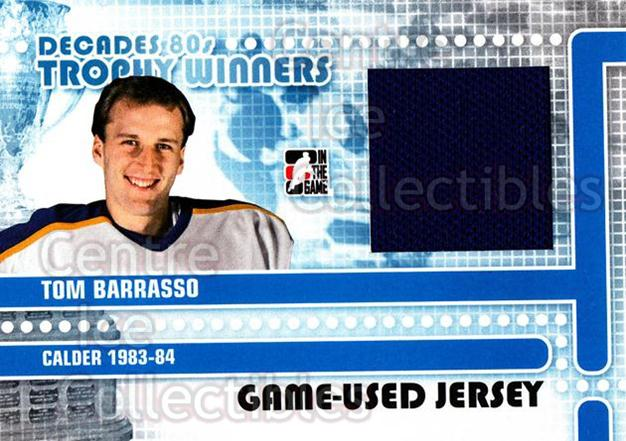 2010-11 ITG Decades 1980s Trophy Winners Jersey Black #12 Tom Barrasso<br/>3 In Stock - $10.00 each - <a href=https://centericecollectibles.foxycart.com/cart?name=2010-11%20ITG%20Decades%201980s%20Trophy%20Winners%20Jersey%20Black%20%2312%20Tom%20Barrasso...&price=$10.00&code=568543 class=foxycart> Buy it now! </a>