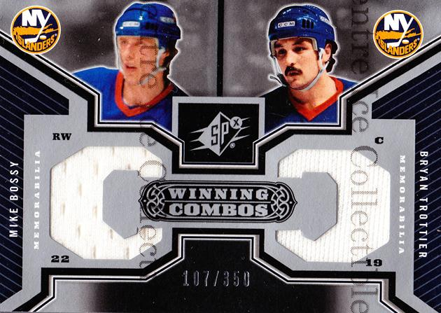 2005-06 Spx Winning Combos #WCNY Mike Bossy, Bryan Trottier<br/>1 In Stock - $10.00 each - <a href=https://centericecollectibles.foxycart.com/cart?name=2005-06%20Spx%20Winning%20Combos%20%23WCNY%20Mike%20Bossy,%20Bry...&price=$10.00&code=569201 class=foxycart> Buy it now! </a>