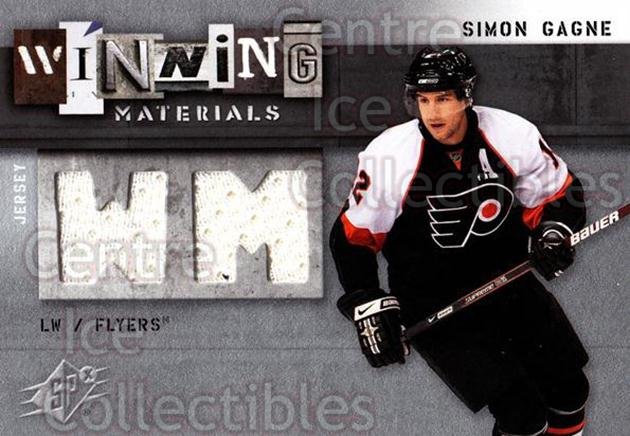 2009-10 Spx Winning Materials #WMSG Simon Gagne<br/>1 In Stock - $5.00 each - <a href=https://centericecollectibles.foxycart.com/cart?name=2009-10%20Spx%20Winning%20Materials%20%23WMSG%20Simon%20Gagne...&quantity_max=1&price=$5.00&code=569613 class=foxycart> Buy it now! </a>