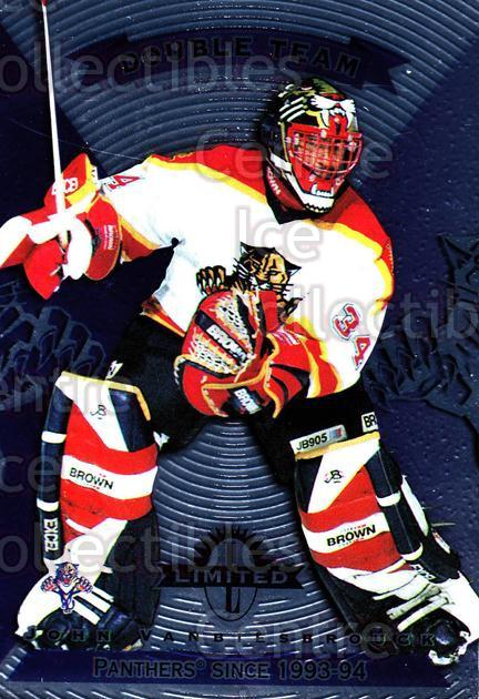 1997-98 Donruss Limited #5 John Vanbiesbrouck, Ed Jovanovski<br/>1 In Stock - $3.00 each - <a href=https://centericecollectibles.foxycart.com/cart?name=1997-98%20Donruss%20Limited%20%235%20John%20Vanbiesbro...&quantity_max=1&price=$3.00&code=56988 class=foxycart> Buy it now! </a>
