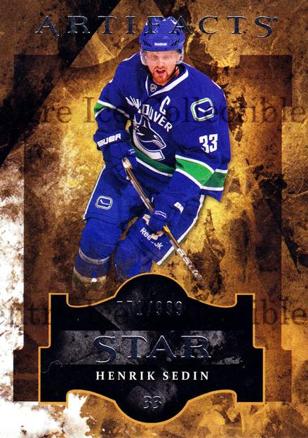 2011-12 UD Artifacts #124 Henrik Sedin<br/>3 In Stock - $3.00 each - <a href=https://centericecollectibles.foxycart.com/cart?name=2011-12%20UD%20Artifacts%20%23124%20Henrik%20Sedin...&quantity_max=3&price=$3.00&code=570024 class=foxycart> Buy it now! </a>