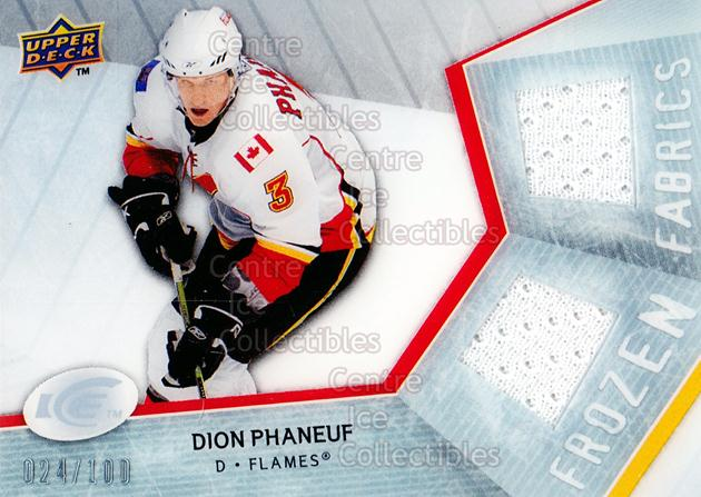2008-09 UD Ice Frozen Fabrics Parallel #FFDP Dion Phaneuf<br/>1 In Stock - $5.00 each - <a href=https://centericecollectibles.foxycart.com/cart?name=2008-09%20UD%20Ice%20Frozen%20Fabrics%20Parallel%20%23FFDP%20Dion%20Phaneuf...&price=$5.00&code=570662 class=foxycart> Buy it now! </a>