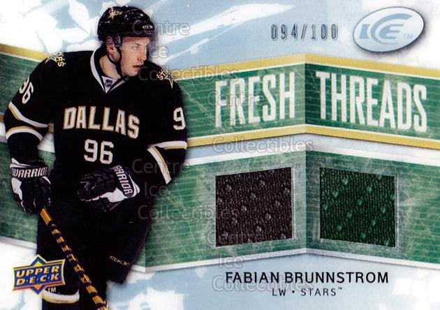 2008-09 UD Ice Fresh Threads Parallel #FTFB Fabian Brunnstrom<br/>1 In Stock - $5.00 each - <a href=https://centericecollectibles.foxycart.com/cart?name=2008-09%20UD%20Ice%20Fresh%20Threads%20Parallel%20%23FTFB%20Fabian%20Brunnstr...&quantity_max=1&price=$5.00&code=570794 class=foxycart> Buy it now! </a>