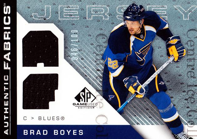 2007-08 SP Game Used Authentic Fabrics Rainbow #AFBO Brad Boyes<br/>1 In Stock - $5.00 each - <a href=https://centericecollectibles.foxycart.com/cart?name=2007-08%20SP%20Game%20Used%20Authentic%20Fabrics%20Rainbow%20%23AFBO%20Brad%20Boyes...&quantity_max=1&price=$5.00&code=571103 class=foxycart> Buy it now! </a>