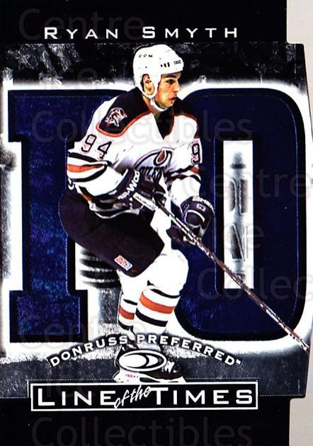 1997-98 Donruss Preferred Line of the Times #1A Ryan Smyth<br/>5 In Stock - $5.00 each - <a href=https://centericecollectibles.foxycart.com/cart?name=1997-98%20Donruss%20Preferred%20Line%20of%20the%20Times%20%231A%20Ryan%20Smyth...&quantity_max=5&price=$5.00&code=57111 class=foxycart> Buy it now! </a>