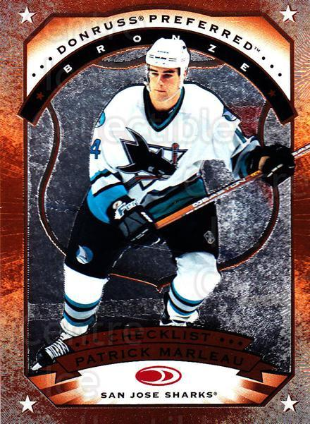 1997-98 Donruss Preferred #198 Patrick Marleau, Checklist<br/>6 In Stock - $1.00 each - <a href=https://centericecollectibles.foxycart.com/cart?name=1997-98%20Donruss%20Preferred%20%23198%20Patrick%20Marleau...&quantity_max=6&price=$1.00&code=57196 class=foxycart> Buy it now! </a>