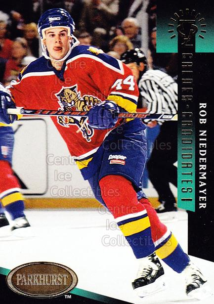 1993-94 Parkhurst Calder Candidates Gold #4 Rob Niedermayer<br/>22 In Stock - $3.00 each - <a href=https://centericecollectibles.foxycart.com/cart?name=1993-94%20Parkhurst%20Calder%20Candidates%20Gold%20%234%20Rob%20Niedermayer...&quantity_max=22&price=$3.00&code=5719 class=foxycart> Buy it now! </a>