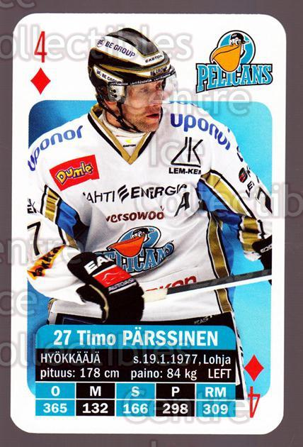 2013-14 Finnish SM LIIGA Playing Card #30 Timo Parssinen<br/>8 In Stock - $3.00 each - <a href=https://centericecollectibles.foxycart.com/cart?name=2013-14%20Finnish%20SM%20LIIGA%20Playing%20Card%20%2330%20Timo%20Parssinen...&quantity_max=8&price=$3.00&code=572529 class=foxycart> Buy it now! </a>