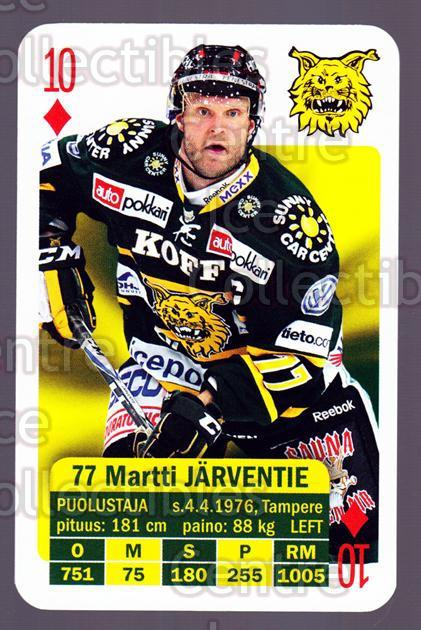 2013-14 Finnish SM LIIGA Playing Card #36 Martti Jarventie<br/>7 In Stock - $3.00 each - <a href=https://centericecollectibles.foxycart.com/cart?name=2013-14%20Finnish%20SM%20LIIGA%20Playing%20Card%20%2336%20Martti%20Jarventi...&quantity_max=7&price=$3.00&code=572535 class=foxycart> Buy it now! </a>