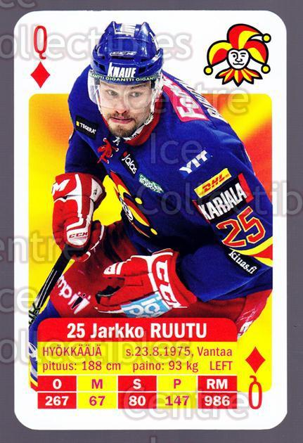 2013-14 Finnish SM LIIGA Playing Card #38 Jarkko Ruutu<br/>9 In Stock - $3.00 each - <a href=https://centericecollectibles.foxycart.com/cart?name=2013-14%20Finnish%20SM%20LIIGA%20Playing%20Card%20%2338%20Jarkko%20Ruutu...&quantity_max=9&price=$3.00&code=572537 class=foxycart> Buy it now! </a>