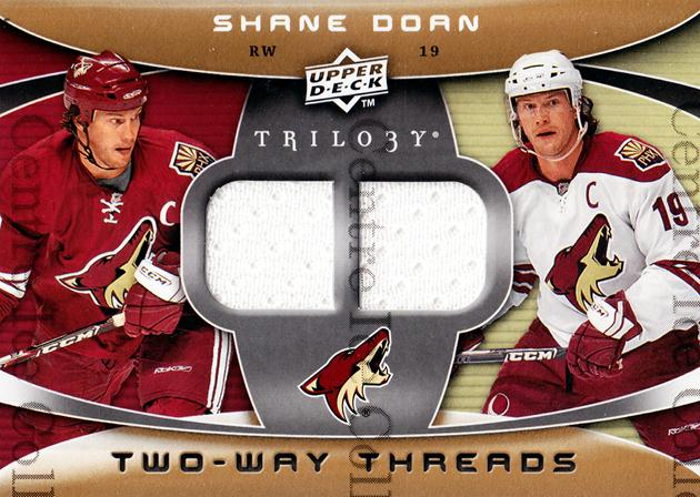 2008-09 UD Trilogy Two-Way Threads #2WSD Shane Doan<br/>1 In Stock - $5.00 each - <a href=https://centericecollectibles.foxycart.com/cart?name=2008-09%20UD%20Trilogy%20Two-Way%20Threads%20%232WSD%20Shane%20Doan...&quantity_max=1&price=$5.00&code=573046 class=foxycart> Buy it now! </a>