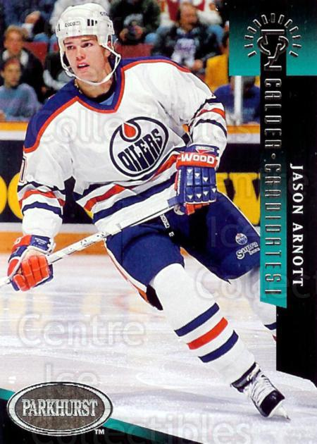1993-94 Parkhurst Calder Candidates #6 Jason Arnott<br/>9 In Stock - $2.00 each - <a href=https://centericecollectibles.foxycart.com/cart?name=1993-94%20Parkhurst%20Calder%20Candidates%20%236%20Jason%20Arnott...&quantity_max=9&price=$2.00&code=5737 class=foxycart> Buy it now! </a>