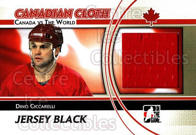 2011-12 ITG Canada vs The World Canadian Cloth Black #3 Dino Ciccarelli<br/>1 In Stock - $5.00 each - <a href=https://centericecollectibles.foxycart.com/cart?name=2011-12%20ITG%20Canada%20vs%20The%20World%20Canadian%20Cloth%20Black%20%233%20Dino%20Ciccarelli...&quantity_max=1&price=$5.00&code=574493 class=foxycart> Buy it now! </a>