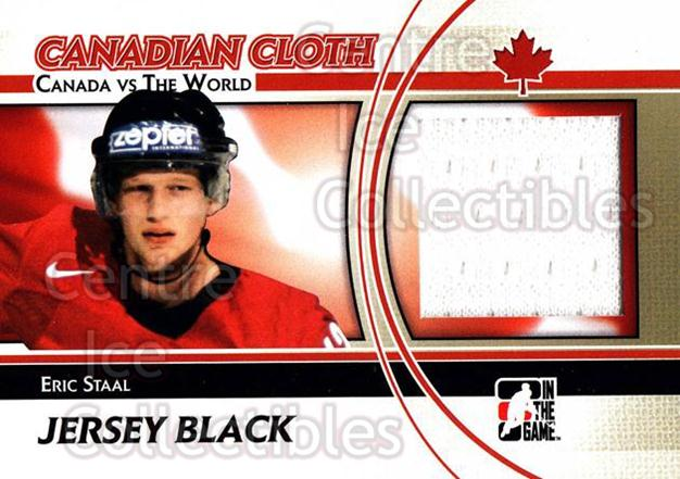 2011-12 ITG Canada vs The World Canadian Cloth Black #25 Eric Staal<br/>2 In Stock - $5.00 each - <a href=https://centericecollectibles.foxycart.com/cart?name=2011-12%20ITG%20Canada%20vs%20The%20World%20Canadian%20Cloth%20Black%20%2325%20Eric%20Staal...&quantity_max=2&price=$5.00&code=574515 class=foxycart> Buy it now! </a>