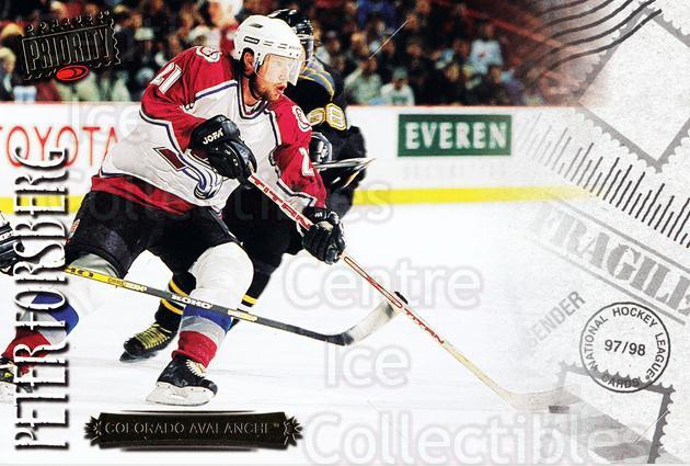 1997-98 Donruss Priority Postcards #10 Peter Forsberg<br/>3 In Stock - $3.00 each - <a href=https://centericecollectibles.foxycart.com/cart?name=1997-98%20Donruss%20Priority%20Postcards%20%2310%20Peter%20Forsberg...&quantity_max=3&price=$3.00&code=57481 class=foxycart> Buy it now! </a>