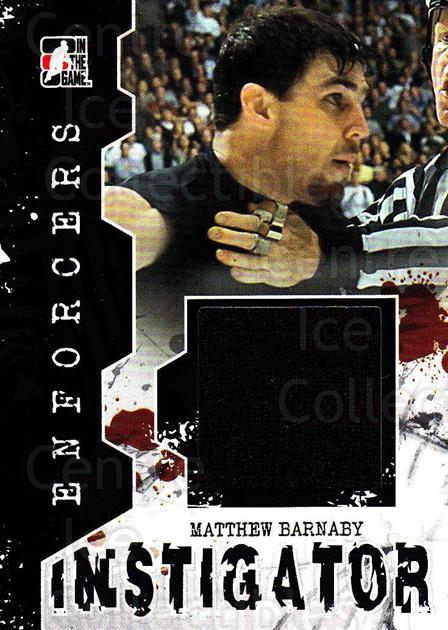 2011-12 ITG Enforcers Instigator Jersey #1 Matthew Barnaby<br/>1 In Stock - $5.00 each - <a href=https://centericecollectibles.foxycart.com/cart?name=2011-12%20ITG%20Enforcers%20Instigator%20Jersey%20%231%20Matthew%20Barnaby...&quantity_max=1&price=$5.00&code=574912 class=foxycart> Buy it now! </a>