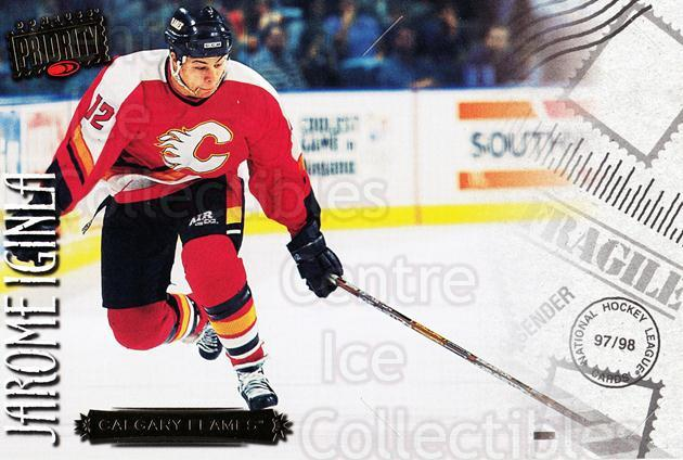 1997-98 Donruss Priority Postcards #20 Jarome Iginla<br/>6 In Stock - $3.00 each - <a href=https://centericecollectibles.foxycart.com/cart?name=1997-98%20Donruss%20Priority%20Postcards%20%2320%20Jarome%20Iginla...&quantity_max=6&price=$3.00&code=57491 class=foxycart> Buy it now! </a>