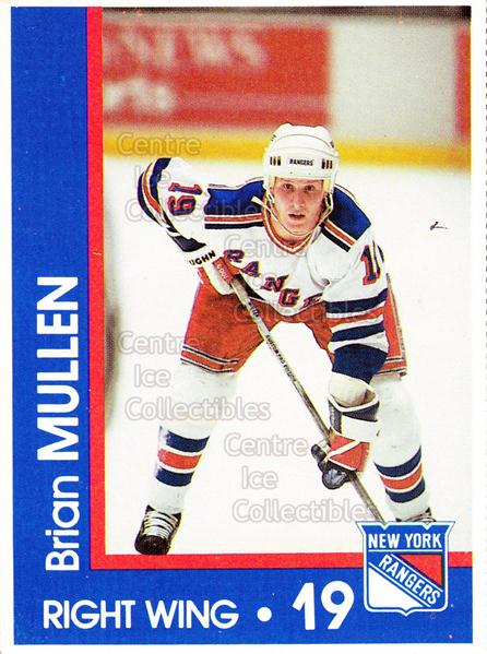 1989-90 New York Rangers Midland Bank #16 Brian Mullen<br/>5 In Stock - $3.00 each - <a href=https://centericecollectibles.foxycart.com/cart?name=1989-90%20New%20York%20Rangers%20Midland%20Bank%20%2316%20Brian%20Mullen...&quantity_max=5&price=$3.00&code=574992 class=foxycart> Buy it now! </a>