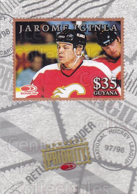 1997-98 Donruss Priority Stamps Bronze #20 Jarome Iginla<br/>1 In Stock - $3.00 each - <a href=https://centericecollectibles.foxycart.com/cart?name=1997-98%20Donruss%20Priority%20Stamps%20Bronze%20%2320%20Jarome%20Iginla...&quantity_max=1&price=$3.00&code=57518 class=foxycart> Buy it now! </a>