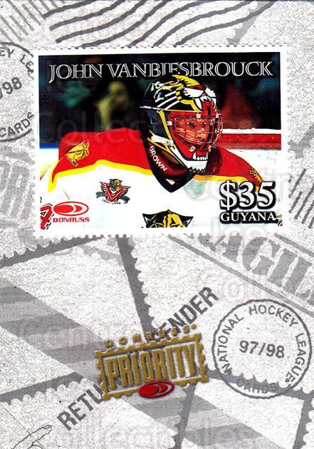 1997-98 Donruss Priority Stamps #11 John Vanbiesbrouck<br/>1 In Stock - $3.00 each - <a href=https://centericecollectibles.foxycart.com/cart?name=1997-98%20Donruss%20Priority%20Stamps%20%2311%20John%20Vanbiesbro...&quantity_max=1&price=$3.00&code=57524 class=foxycart> Buy it now! </a>