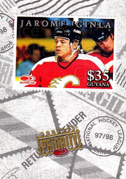 1997-98 Donruss Priority Stamps #20 Jarome Iginla<br/>9 In Stock - $3.00 each - <a href=https://centericecollectibles.foxycart.com/cart?name=1997-98%20Donruss%20Priority%20Stamps%20%2320%20Jarome%20Iginla...&quantity_max=9&price=$3.00&code=57530 class=foxycart> Buy it now! </a>