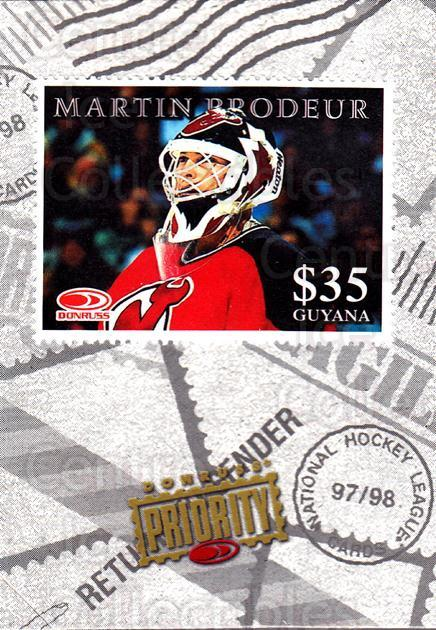 1997-98 Donruss Priority Stamps #24 Martin Brodeur<br/>2 In Stock - $5.00 each - <a href=https://centericecollectibles.foxycart.com/cart?name=1997-98%20Donruss%20Priority%20Stamps%20%2324%20Martin%20Brodeur...&price=$5.00&code=57533 class=foxycart> Buy it now! </a>